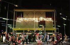 I Pagliacci from Staatsoper Hannover. Production by Calixto Bieito. Sets by Rifail Ajdarpasic.