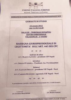 """Studio Legale Buonomo (Napoli / Caserta): 24/06/2015: Giornata di studio """"Rassegna giurispru..."""