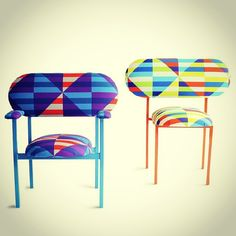 Photo by gibidesign - Studiomama Re-imagined Chairs #furniture #colorful #rainbowcolors #chair