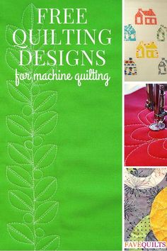 32 Free Quilting Designs for Machine Quilting - When it comes to quilting your quilt, there are other options besides straight line quilting or sending your quilt to a professional long-arm quilter. Get creative with one of these 32 Free Quilting Designs for Machine Quilting. You'll be surprised to see what beautiful designs you can achieve with free motion quilting on your home sewing machine. Here are just a few of the many gorgeous free patterns available on our website.