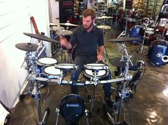 James Ing drummer of Calling All Cars visits Revolver Drums