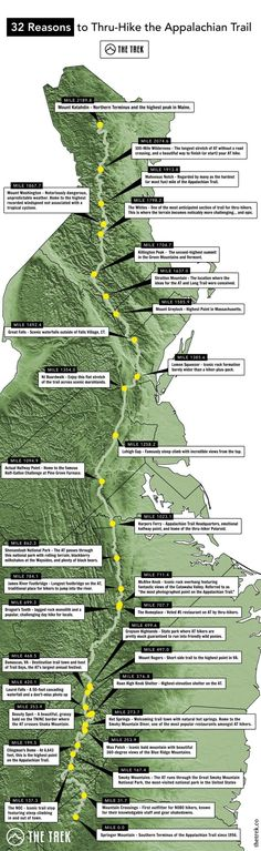 Appalachian Trail Map: 32 Damn Good Reasons to Hike the AT