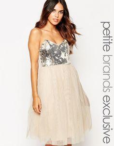 Little Mistress Petite Sequin Bandeau Prom Dress SALE  $31.50