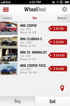 List of cars offers