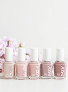 A manicure is a cosmetic elegance therapy for the finger nails and hands. A manicure could deal with just the hands, just the nails, or Essie Nail Polish, Nail Polish Colors, Neutral Nail Polish, Nail Art Cute, Hair And Nails, My Nails, Nude Nails, White Nails, Acrylic Nails