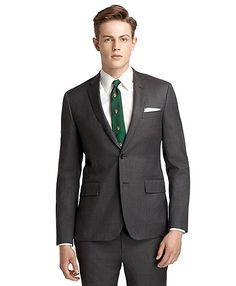 Men's Red Fleece Grey Suit Jacket