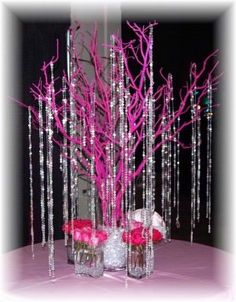 i like the idea of painted branches paired with bling