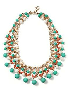 Another #turquoise stunner that I am dying for. #bananarepublic just killing it with the necklaces this summer! Sea Mermaid Necklace