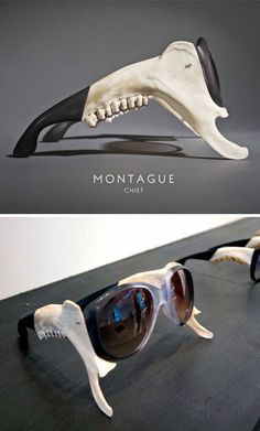 Emma Montague Jawbone glasses {anatomy eyeglasses created for RCA 2012 Show}