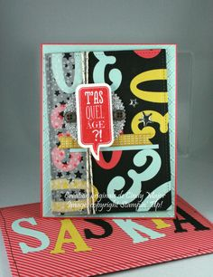 Just Sayin' stamp set, Large Letters and Large Numbers Framelits from Stampin' Up! - Designed by Cindy Major