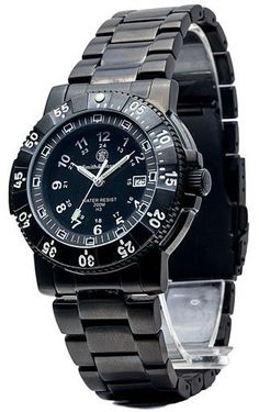 Smith & Wesson 357 Series Tritium Commander H3 Watch - Black Stainless Steel