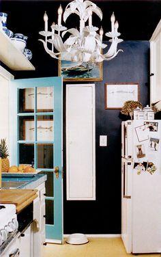 blue french door
