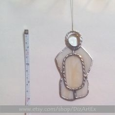 #Monogram Letter-O #Pendant Of Stained Glass. Cream. Personalized Initial. Friendship Jewelry. Art Glass. Handmade. DizArtEx.  Type: Stained Glass (pendant,suncatcer); Mot... #stainedglass #handmade #decor #homedecor #dizartex #jewelry #necklace #pendant #cream #people #tiffany #jewelry #decoration #monogram #2015