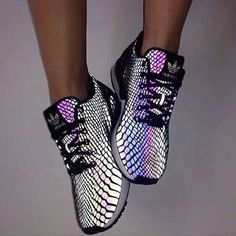 "Fashion ""Adidas"" Chameleon Reflective Sneakers Sport Shoes (Cool Shoes Adidas)"