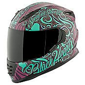 SPEED AND STRENGTH - Women's SS1310 Black Heart Full-Face Motorcycle Helmet - Speed and Strength - NonExclusiveBrands - Cycle Gear