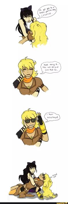 Blake and Yang and bad puns!