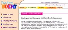 Strategies for Managing Middle School Classrooms. Will use as a resource or managing my classroom.