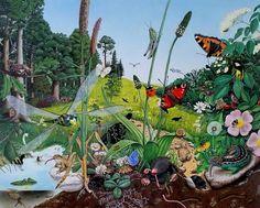 spotEiderstedt Ole West, Gouache, Illustrator, Portrait, Plants, Painting, Art, Santa Cruz, Deep Sea