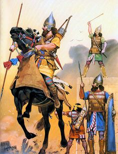 Assyrians: Cavalry and infantry, 655 BC