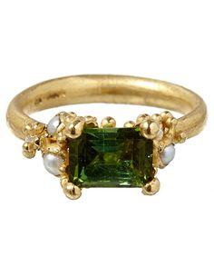 Ruth Tomlinson Gold Tourmaline Ring