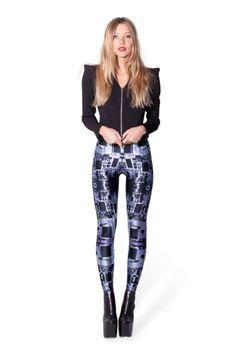 Circuit Board Purple Leggings - LIMITED › Black Milk Clothing