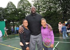 Washington D.C. - March 28, 2016: Chanda Rubin, former NBA Player Shaquille O'Neal, Katrina Adams at the USTA Easter Egg Roll at the White House.