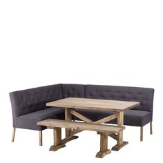 Delightful Newsham Reclaimed Wood Dining Table, Bench And LHF Corner Bench Available  Online At Barker U0026
