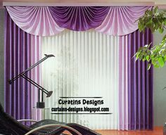 Modern purple curtain design ideas for bedroom interior