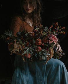 Moody autumnal floral arrangement