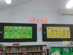 Ipad board display for Book Week 2014 'connect to reading'