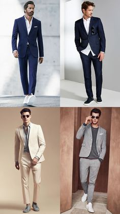 Men's Trainers With Suits Outfit Inspiration Lookbook