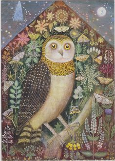 Owl in the Starry Night, Sophie Grandval