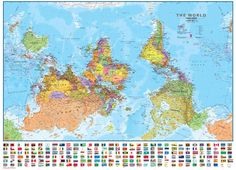 There is no reason for the map to be oriented the way it is. It could be flipped and be completely accurate