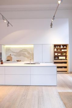 Bulthaup Showroom | Kentwood Floors Home Decor Kitchen, Kitchen Interior, Home Kitchens, Tidy Kitchen, Kitchen Ideas, Kentwood Flooring, Contemporary Kitchen Design, Modern Contemporary, Interior Design Boards