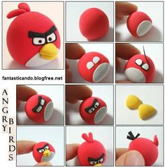 Angry Birds in fimo tutorial - paste sintetiche