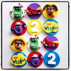 12 x handmade fondant frozen wiggles by MadAboutCakeToppers Wiggles Birthday, Wiggles Party, Twin Birthday, Boy Birthday Parties, Birthday Cakes, Wiggles Cake, The Wiggles, Fondant Cake Toppers, Cupcake Toppers