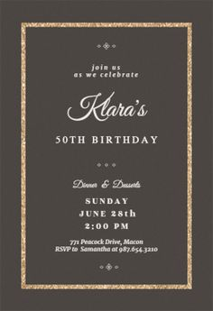 New Photo elegant Birthday Invitations Tips Do you know there are over 31 zillion seconds within twelve months? If you are a father or mother, c - Birthday Month Birthday Party Invitations Free, Unique Invitations, Engagement Party Invitations, Printable Invitation Templates, Printables, Gold Birthday, 75th Birthday, Birthday Month, Birthday Celebration