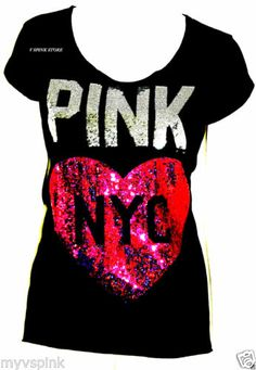 New Victoria's Secret Pink Limited Edition Bling Tee S Pink Flip Flops, Pink Nation, Pink Outfits, Vs Pink, Victoria's Secret Pink, Pink Clothes, Bling, T Shirts For Women, My Style