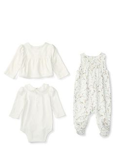 Overall 3-Piece Set - Baby Girl Sets & Outfits - RalphLauren.com