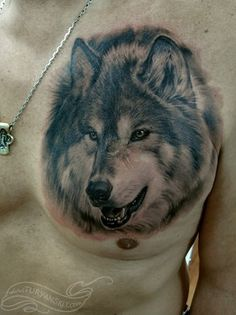 Ah...here's the more realistic, 3D wolf tat I've been looking for...