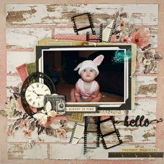 Good morning how are you all? Rikki here today with some vintage goodness and also a minimal layout , which works great with some of t. Wedding Scrapbook, Baby Scrapbook, Scrapbook Albums, Scrapbook Cards, Scrapbook Templates, Vintage Scrapbook, Photo Layouts, Scrapbook Page Layouts, Scrapbook Sketches