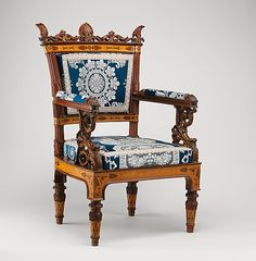 Chair, one of a set of two.