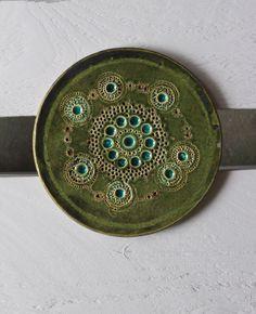 green ceramic tile by nmen omen studio https://www.facebook.com/nomen.omen.7?fref=photo