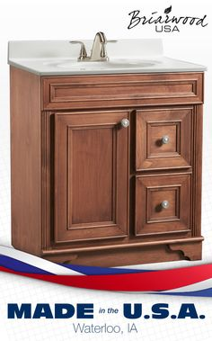 Organize Your Bathroom And Give It A Whole New Look With This Briarwood  Vanity!
