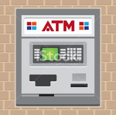 ~$22-25. atm or cash machine Royalty Free Stock Vector Art Illustration