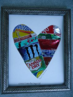 Recycled Soda Can Beer Can Tin Quilt HEART by creationsbyingrid1, $25.00