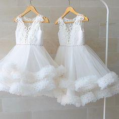 s Clothing Children' Wedding Flower Girl Dresses, Little Girl Dresses, Girls Dresses, Frocks For Girls, Kids Frocks, Girls Party Dress, Baby Dress, Tulle Skirt Dress, Dress Anak