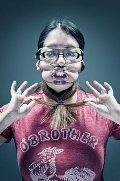 Remember that photo series featuring subjects whose faces are contorted by sticky scotch tape? Of course you do -- those images are burned into your retina