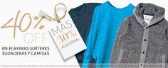 La tienda oline Osom antes Dafiti tiene la promoción de 40% de descuento + 30% de descuento adicional en varios modelos de playeras, camisas, sudaderas y s