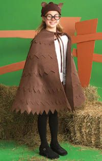 Owl Halloween costume - @Cortney Tipton, I think you should have your mom make us these. You could be Hedwig and I could be Pigwidgeon!
